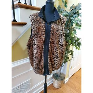 Ac-tiv-ology Reversible Vest 3X Animal Print